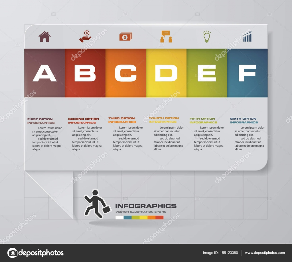 Abstract business chart 6 steps diagram templategraphic or website abstract business chart 6 steps diagram templategraphic or website layout vector step by step idea vector by emptyvectorist ccuart Choice Image