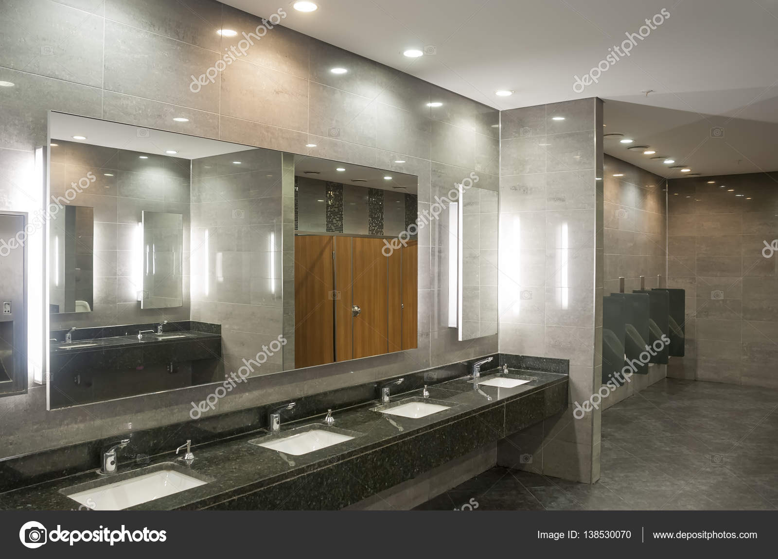 Fesselnde Moderne Inneneinrichtung Dekoration Von Wc-raum In Die — Stockfoto