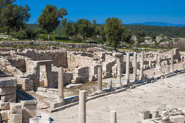 Colonnaded street, ruins of ancient Patara, Antalya Province, Tu