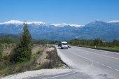 strada di montagna in Turchia