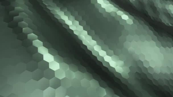 abstrakte High-Tech-strukturierte Wellen für den Hintergrund, Animation einer nahtlosen Schleife