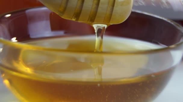 detailní záběry zdravého přírodního medu
