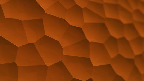elvont narancs vibráló felület mozaik sejtek molekulák, háttér biológia és mikrobiológia, Animáció zökkenőmentes hurok