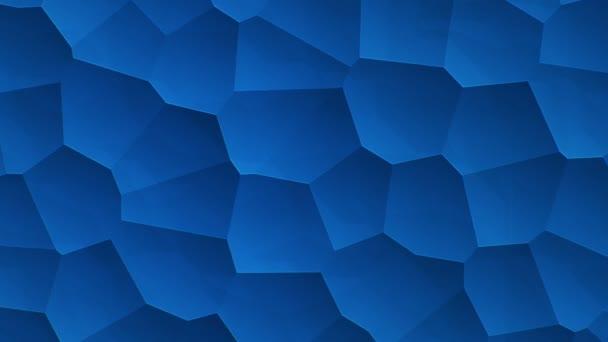 abstraktní modrý vibrační povrch s mozaikovými buňkami molekul, Backdrop biologie a mikrobiologie, Animace bezešvé smyčky