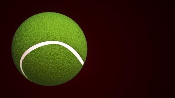 Animace pomalého otáčení míče pro tenis, bezešvé smyčky