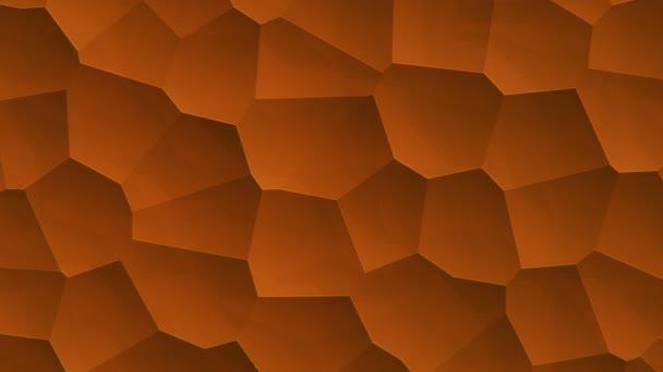 abstraktní oranžový vibrační povrch s mozaikovými buňkami molekul, Backdrop biologie a mikrobiologie, Animace bezešvé smyčky