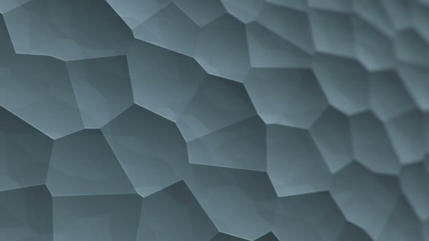 abstraktní šedý vibrační povrch s mozaikovými buňkami molekul, Backdrop biologie a mikrobiologie, Animace bezešvé smyčky
