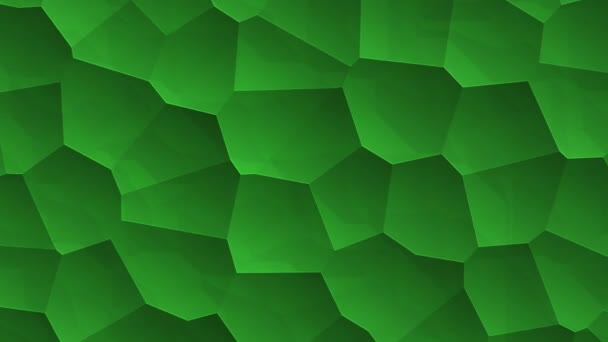 abstract green vibrating surface with mosaic cells of molecules, Backdrop of biology and microbiology, Animation of seamless loop
