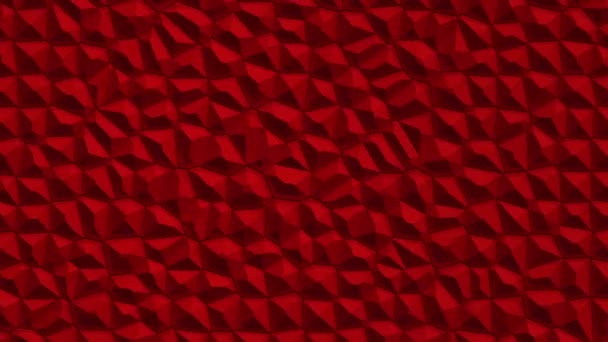 abstract red vibrating surface with mosaic cells of molecules, Backdrop of biology and microbiology, Animation of seamless loop
