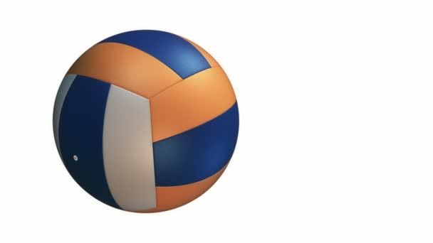 Animace pomalého rotačního volejbalu, bezešvé smyčky