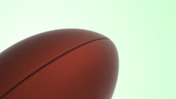 Animation of slow rotation ball for American football, zökkenőmentes hurok