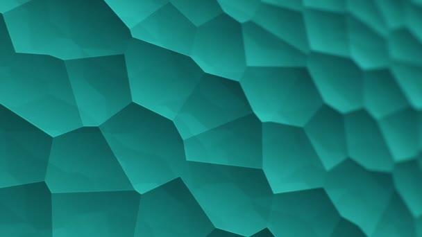abstraktní tyrkysový vibrační povrch s mozaikovými buňkami molekul, Backdrop biologie a mikrobiologie, Animace bezešvé smyčky