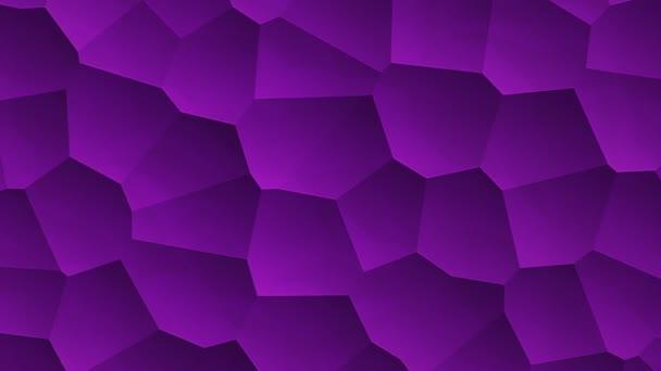 abstraktní purpurová vibrační plocha s mozaikovými buňkami molekul, Backdrop biologie a mikrobiologie, Animace bezešvé smyčky