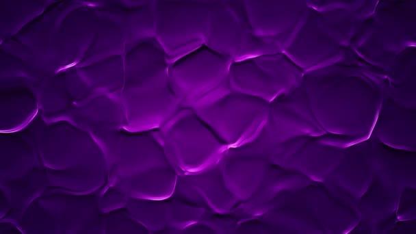 Absztrakt háttér animáció lila hullámok szerves felületen, Animáció zökkenőmentes hurok