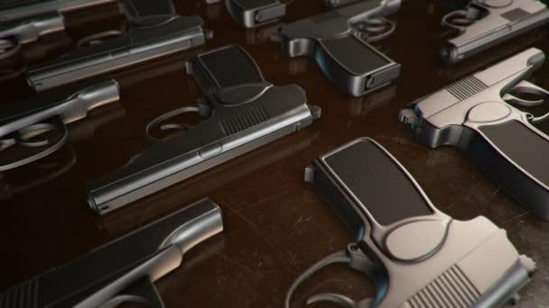 Set von verschiedenen 3D-Modellen der Waffe