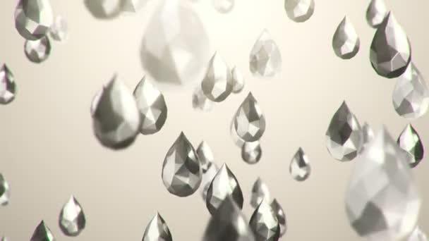 pohybové video padlých 3D modelů brilantů