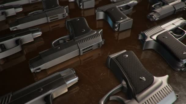 készlet különböző 3D-s modellek fegyver