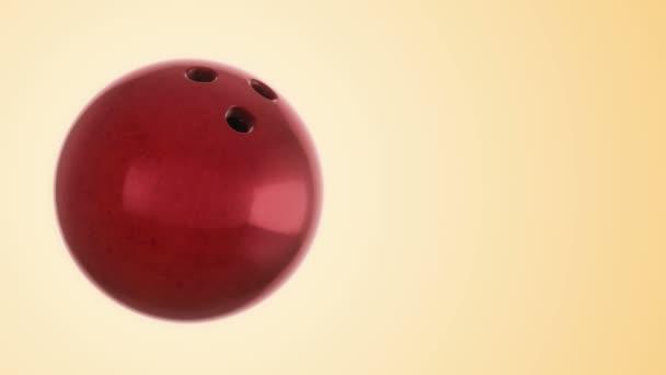 Animace pomalého otáčení koule pro bowling hry. Pohled zblízka s realistickou texturou a světlem. Animace bezešvé smyčky.