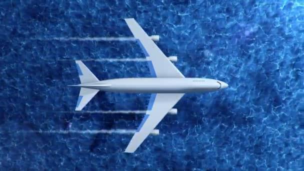 Animace létajících letadel nad mořem, Animace bezešvé smyčky