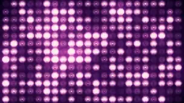 Animáció rózsaszín villogó izzók vezetett falon, Animáció zökkenőmentes hurok, színpadi fények koncepció