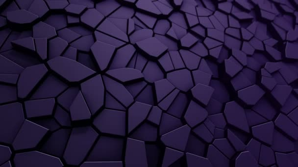 Technologické zázemí s animací vlnové mozaiky fialových polygonů, Animace bezešvé smyčky