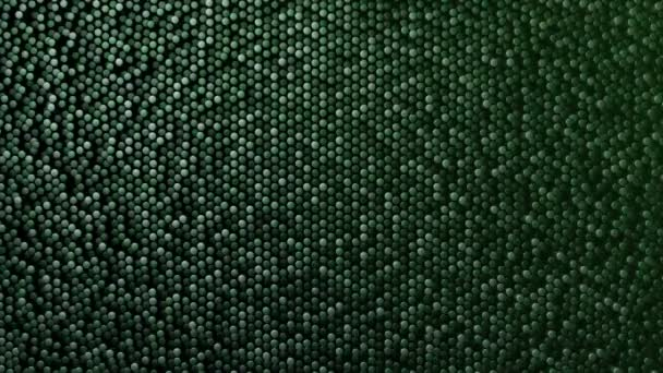 Technológiai háttér animáció hullám mozaik zöld hengerek, Animáció zökkenőmentes hurok