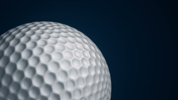 Animation of slow rotation ball for golf game. View of close-up with realistic texture and light. Animation of seamless loop.