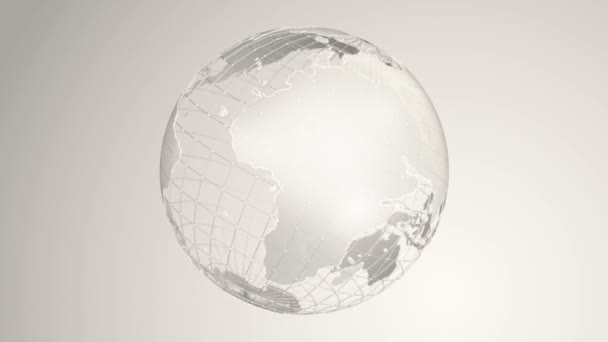 Abstract background with rotation of Earth Globe from glass, Animation of seamless loop