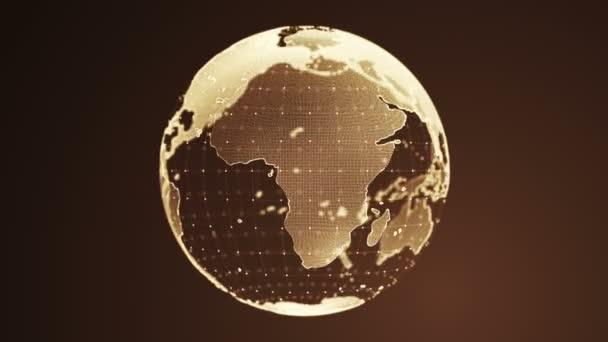 Abstraktní pozadí s rotací Země Globe ze skla, Animace bezešvé smyčky