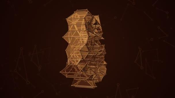 Abstrakter Hintergrund mit Animation Wort 3G und 4G aus metallischem Netz. Animation einer nahtlosen Schleife.