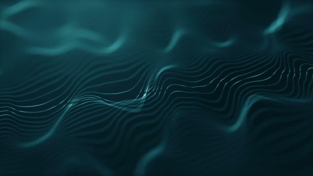 digitális hullámok mozgása, bélelt felület