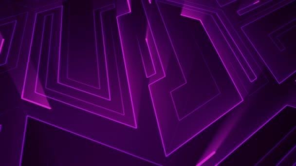 Absztrakt technológiai háttér áramköri elektromos jelrészecskék és lila fénycsíkok animációjával. Zökkenőmentes hurkok animációja.