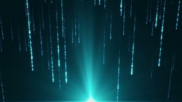 elvont hi-tech felvételek hulló részecskékről a háttérben, zökkenőmentes hurkok animációja