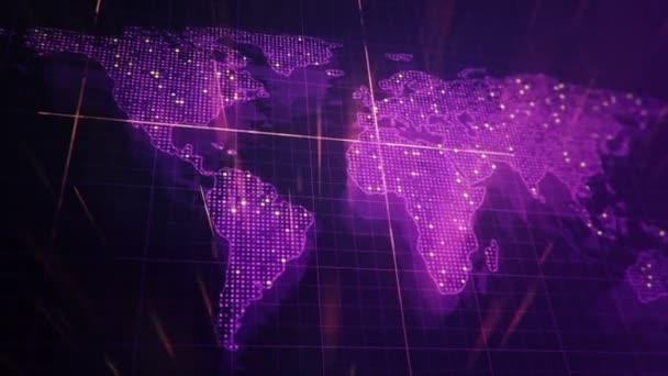 malebný pohled na mapu digitálního světa