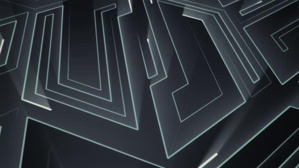 Absztrakt technológiai háttér animációs áramkör elektromos jel részecskék és fénysugár csíkok. Zökkenőmentes hurkok animációja.