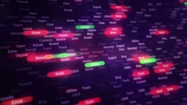 közelkép a számítógép képernyőjén a hacker koncepció