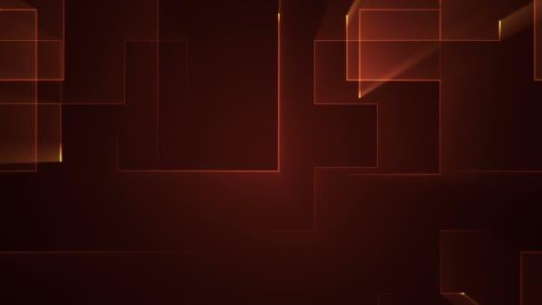 Animace obvodového elektrického signálu s geometrickým pozadím pruhů s částicemi. Animace bezešvé smyčky.