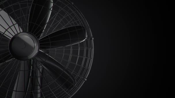 3D animációs felvétel forgó ventilátorról. Zökkenőmentes hurkok animációja
