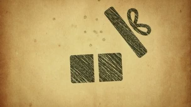 Animation Opening Gift Box Icon Drawing Style Animation Stop Motion Video By C Bifftenon Stock Footage 341858916