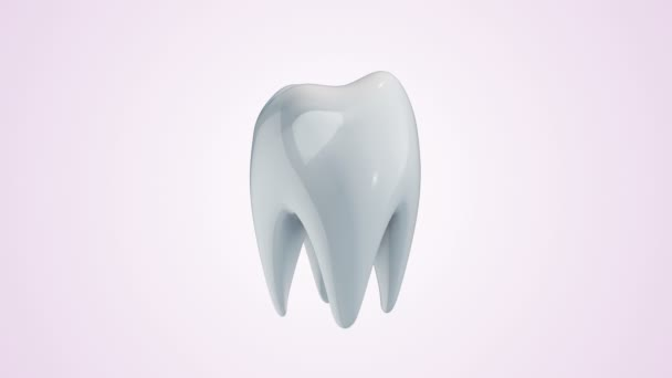Animation rotation of white tooth covering from protection glass