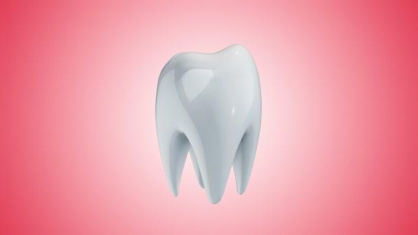 Animation Drehung der weißen Zahnabdeckung aus Schutzglas
