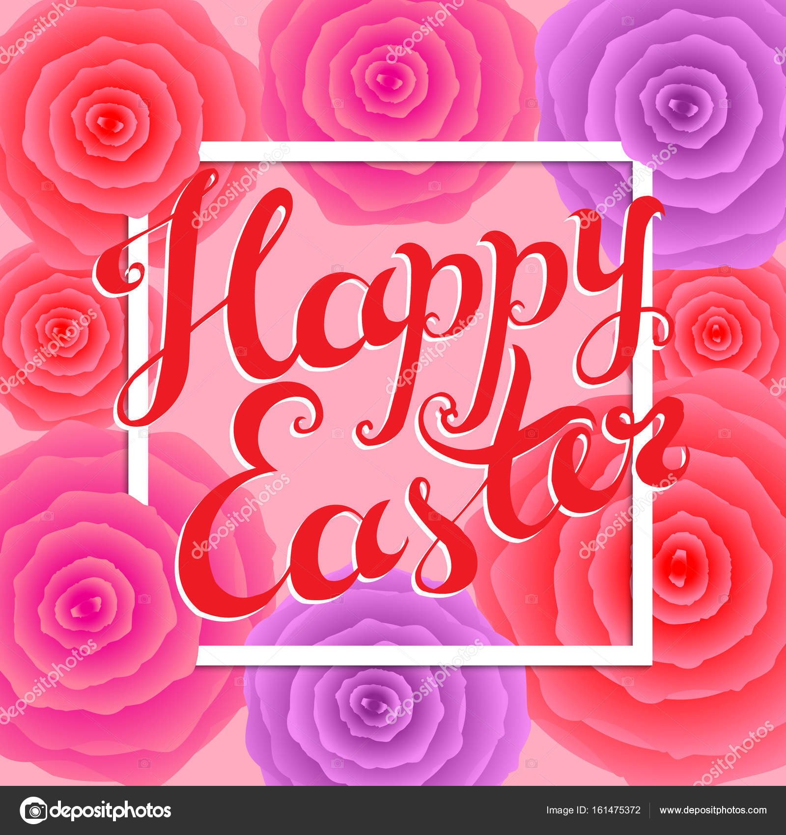 Happy easter hand lettering colorful vector illustration greet happy easter hand lettering colorful vector illustration greet stock vector m4hsunfo