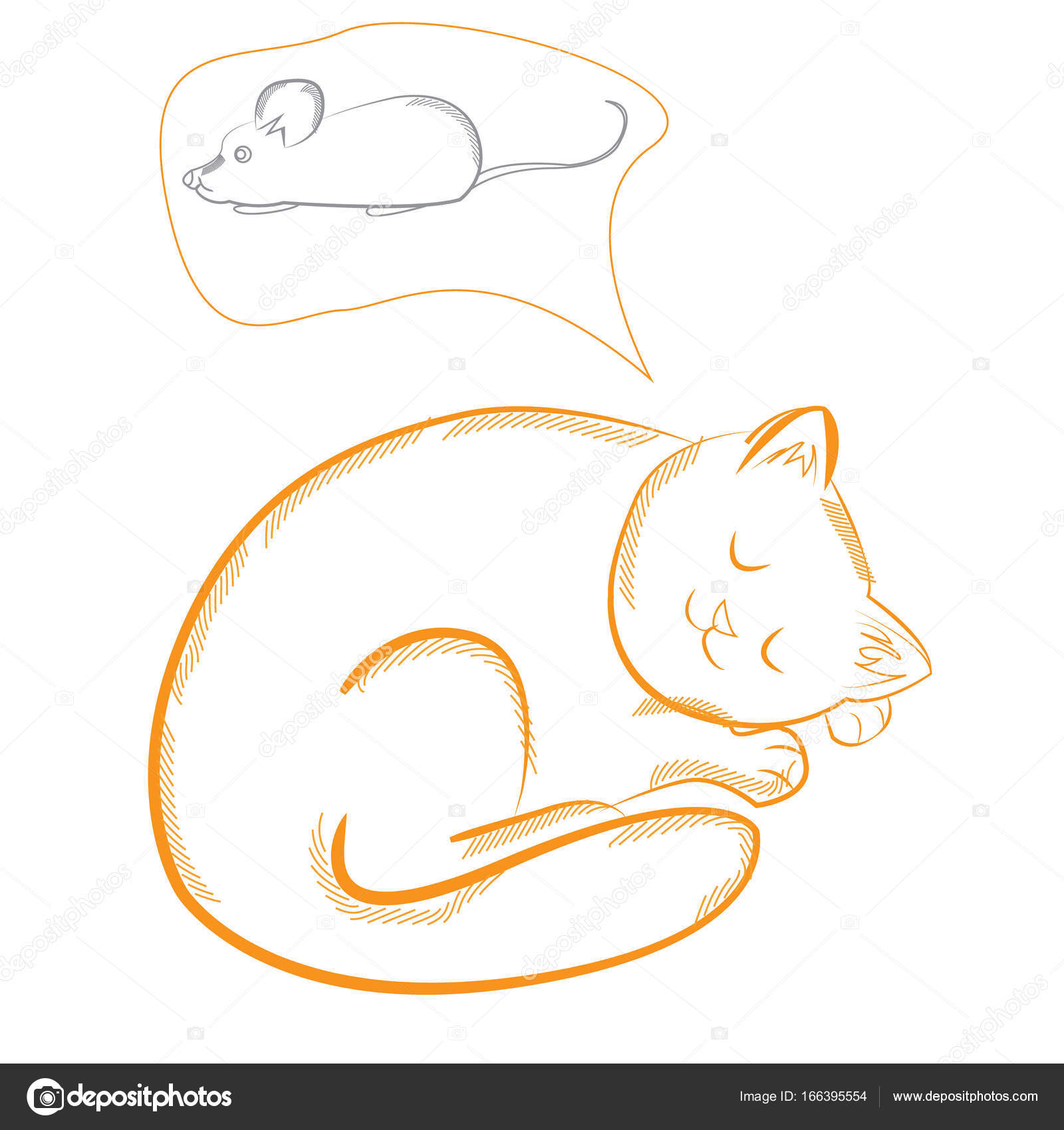 Funny characters the cat is sleeping and sees a sweet dream mo funny characters the cat is sleeping and sees a sweet dream mouse vector illustration isolated on white background cute wild animals a symbol of wild buycottarizona Gallery