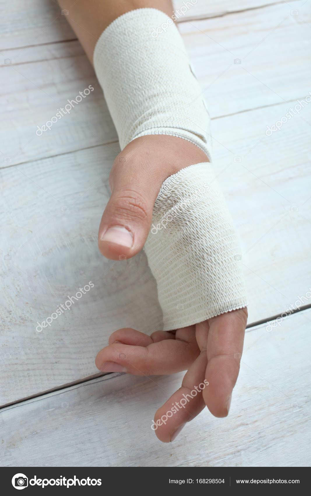 Hand In Elastic Bandage Stock Photo C Alexthq 168298504