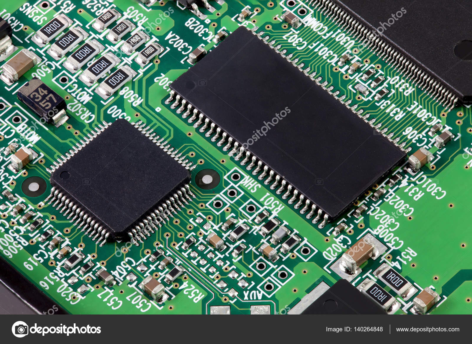 electronic circuit board with many component parts stock photo rh depositphotos com Circuit Board Illustration Electrical Circuit Board Components
