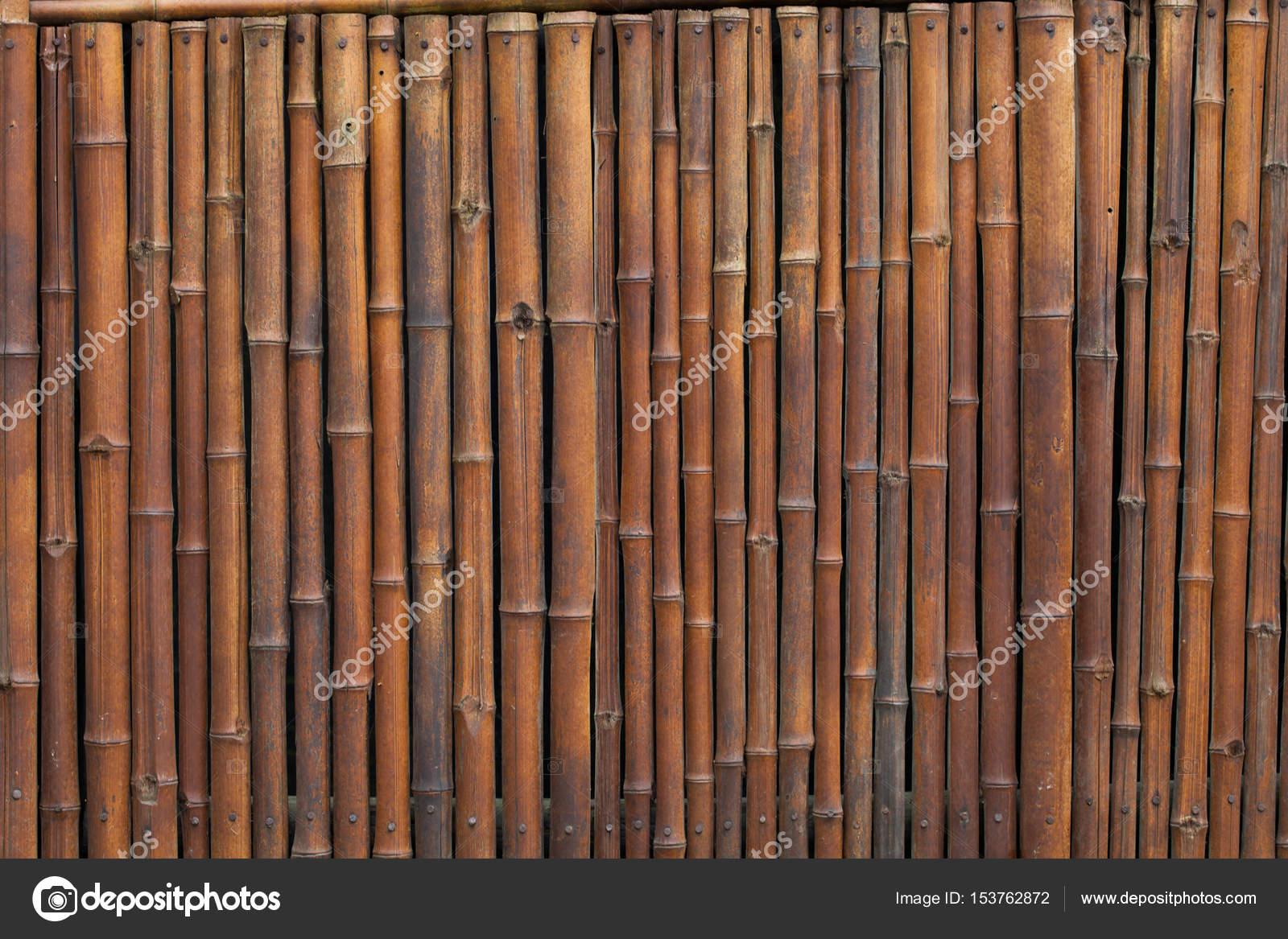 Dekorative Alte Bambus Holz Zaun Mauer Hintergrund Hautnah