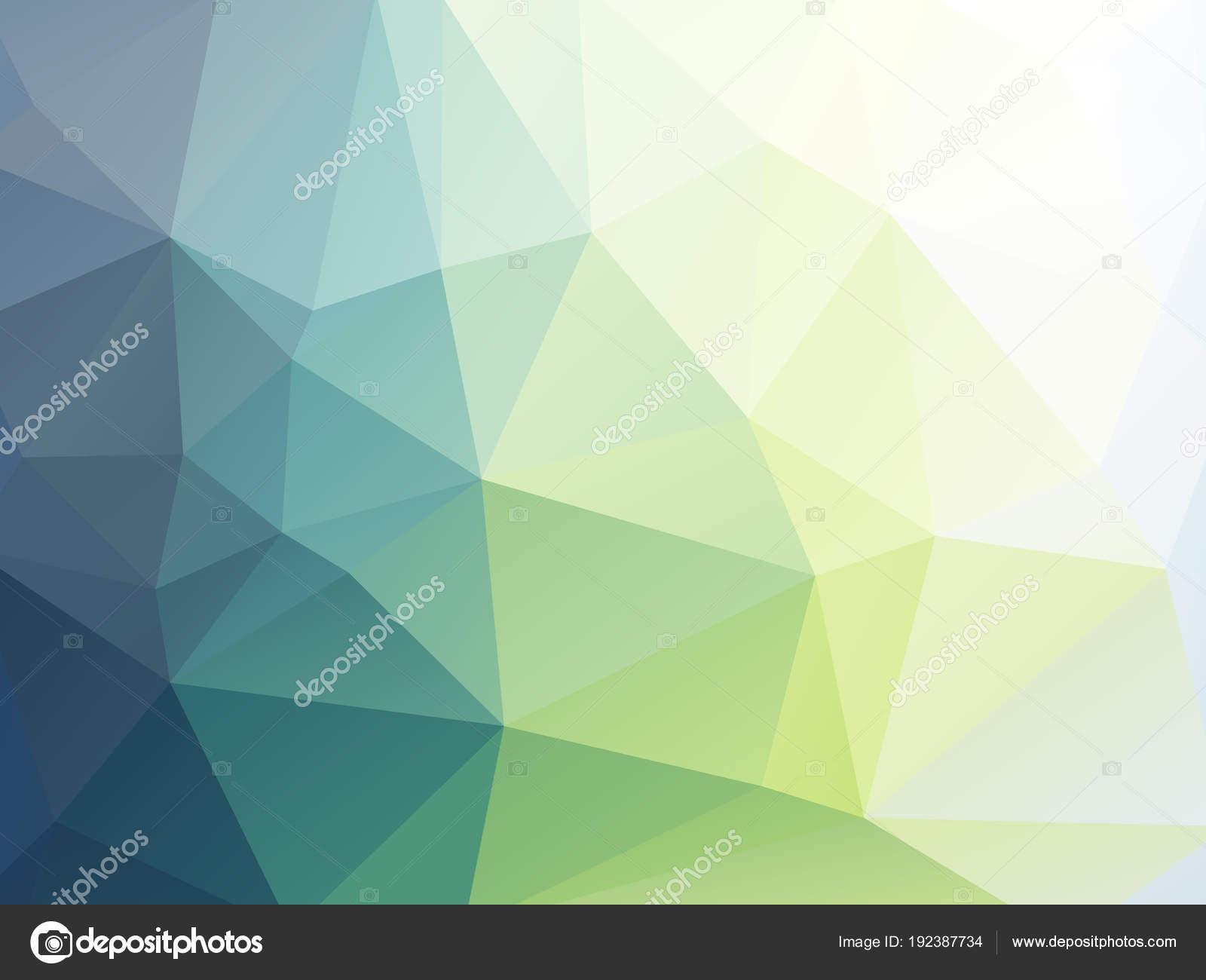 Doux Papier Peint Geometrique Triangulaire Vert Image Vectorielle