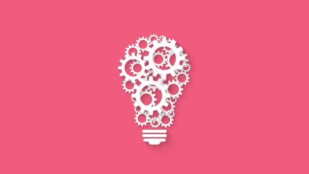 Glühbirnen-Design durch rotierende Zahnräder und Zahnräder