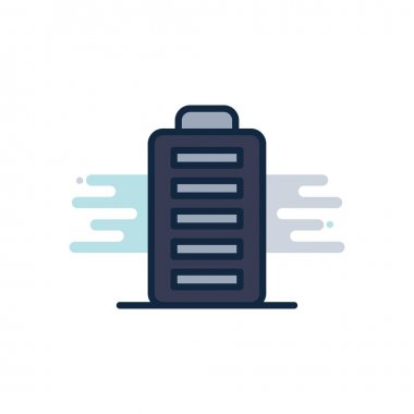 Isolated battery line fill block style icon vector design