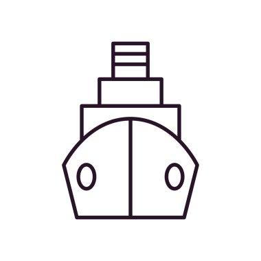 cargo ship icon, line style